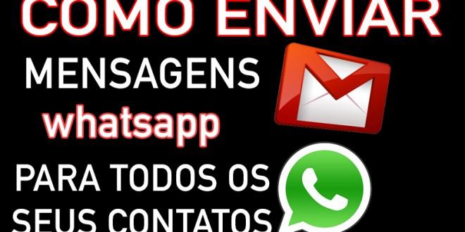 Como Enviar Mensagem em Massa para todos os Contatos do Whatsapp