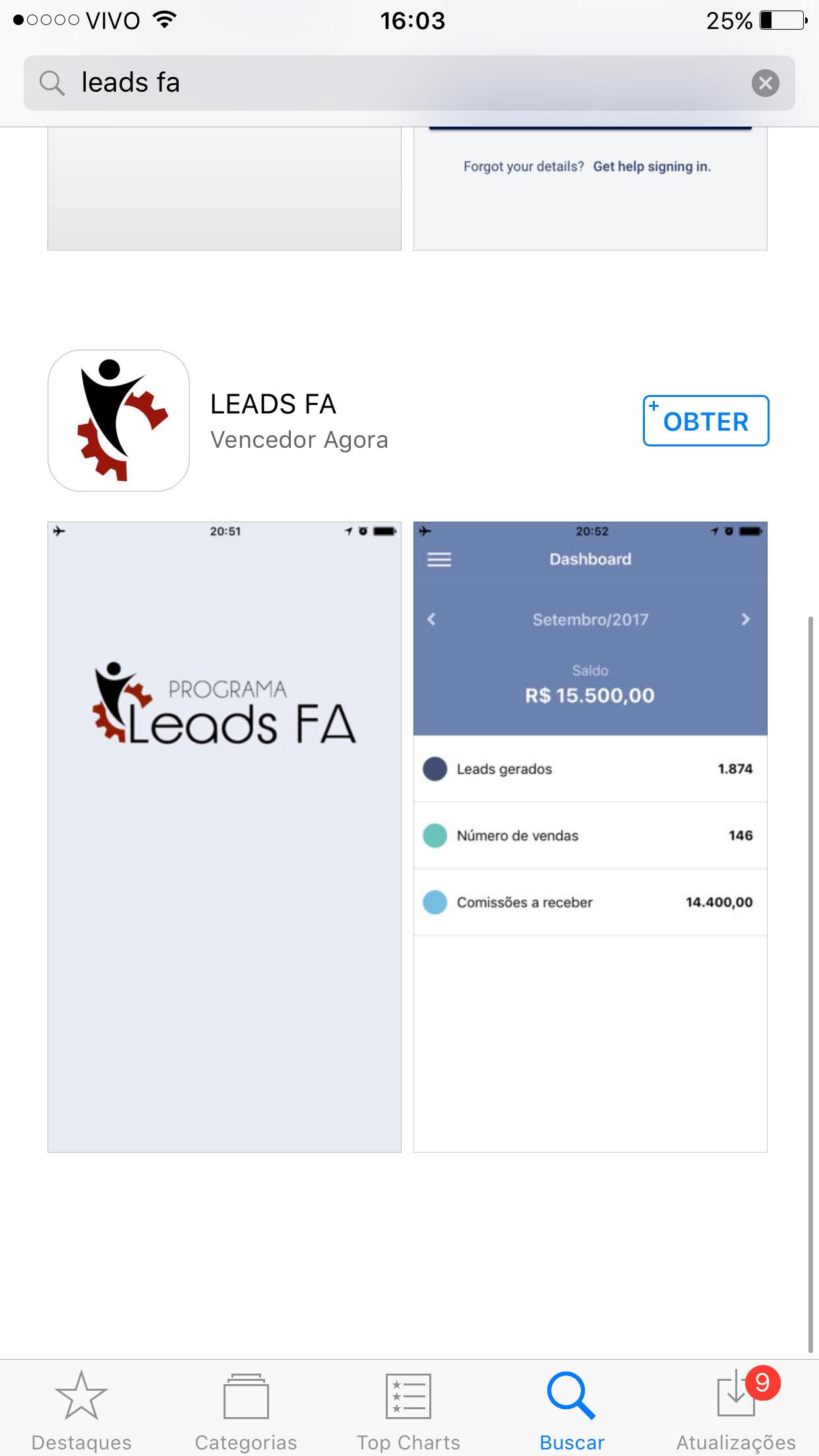 aplicativo programa leads fa